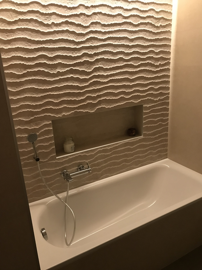 Bagno privato parete 3D